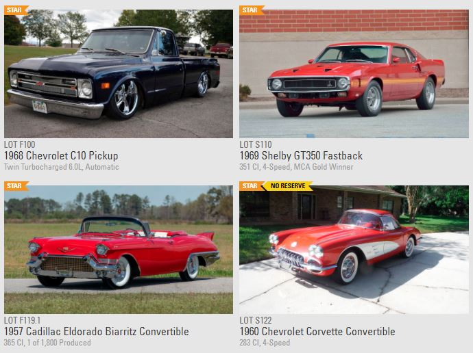Over 1,000 car to be auctions including cars from five private car collections.
