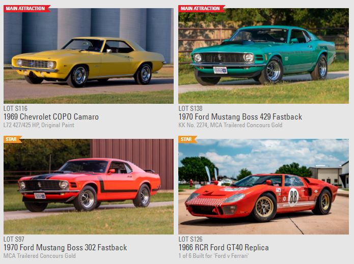 Over 1,000 vehicles to be sold at the Dallas Mecum auction September 8-11 2021