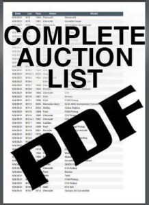 PDF Complete List of Vehicles to be Auctioned at Mecum Auction in Dallas Texas September 2021