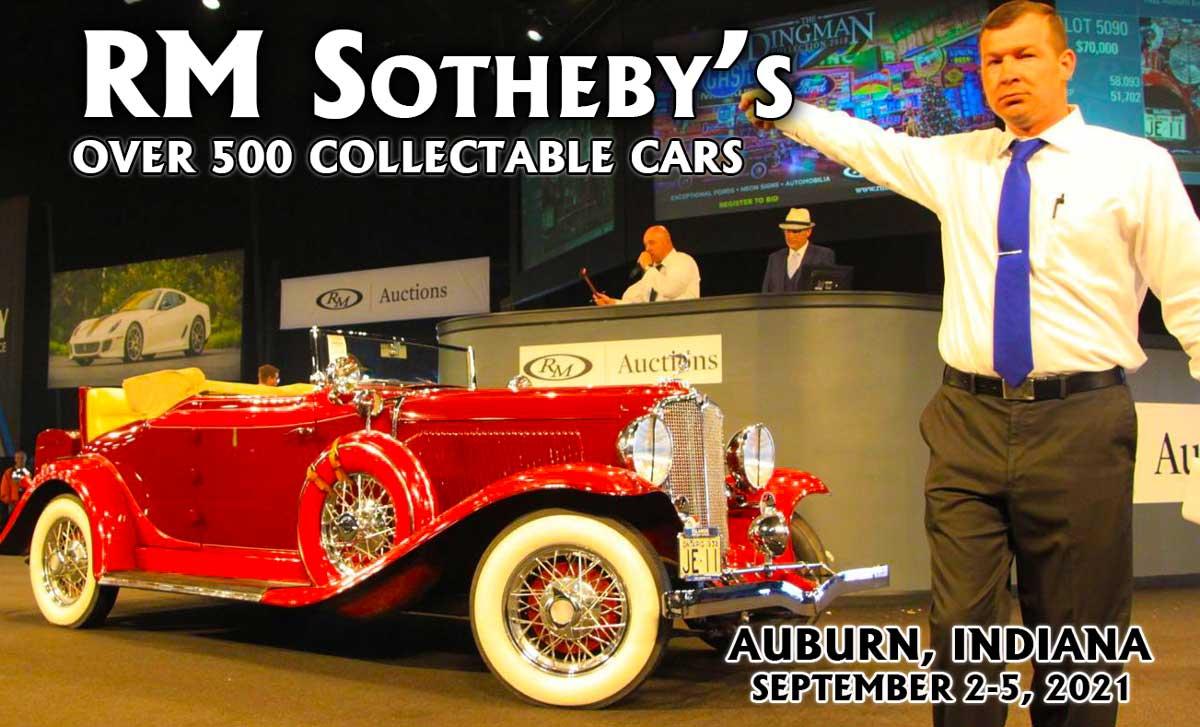 RM Sothebys Collector- Car Auction September 2021