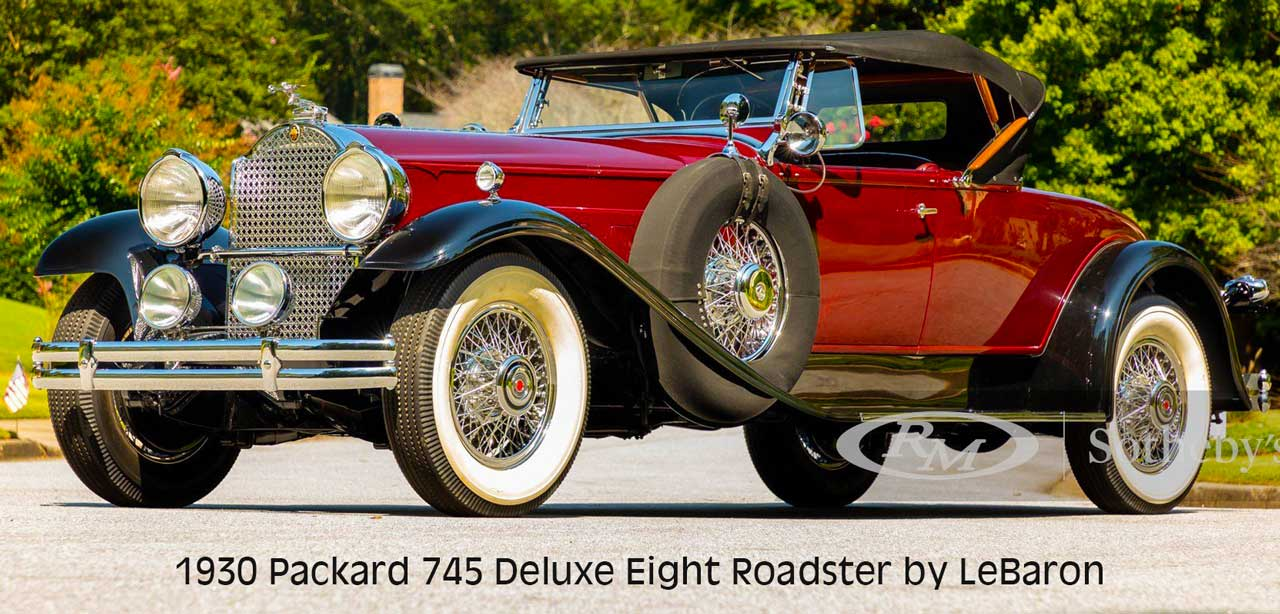 1930 Packard 745 Deluxe Eight Roadster by LeBaron