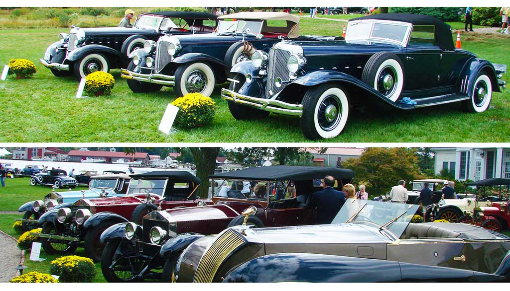 Clkassic Collectable Cars on the Golf Course Lawns