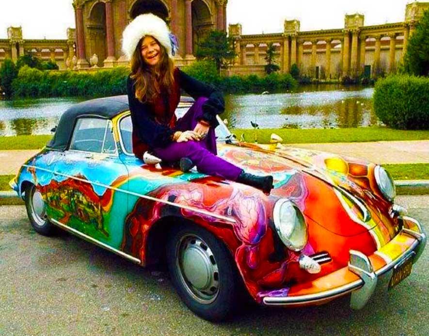 Joplin's Psychedelic Paisley Custom Painted Porsche 356C