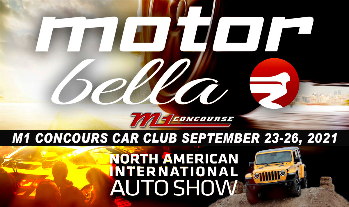 Motor Bella North American Auto Show at the M1 Concours Car Club and Race Track