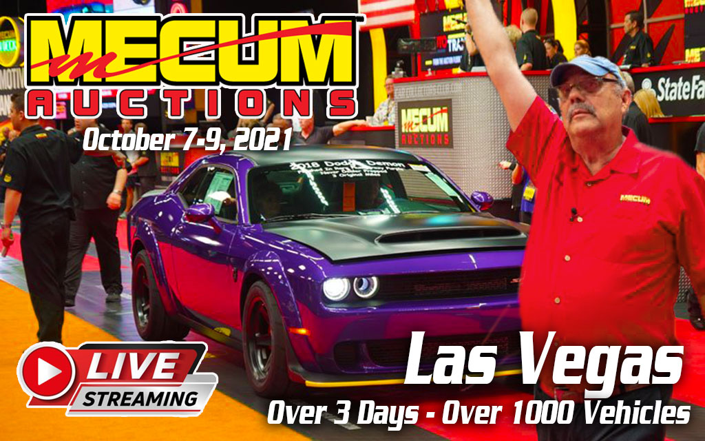 Mecum Auction Las Vegas Live Broadcast On NBCSN October, 7-9,2021